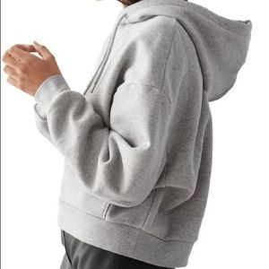& other stories grey lined boxy hoodie